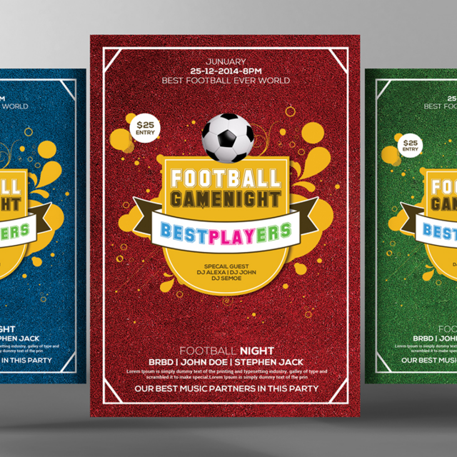 football flyer psd templates template for free download on pngtree