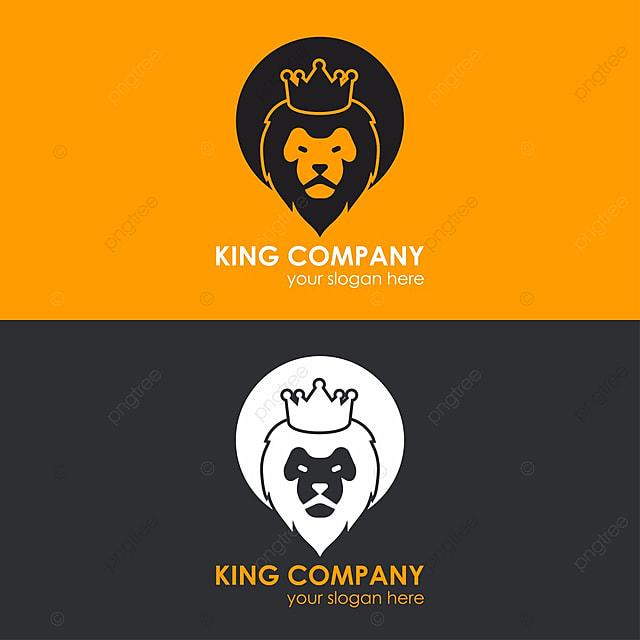 Lion Crown Logo Template