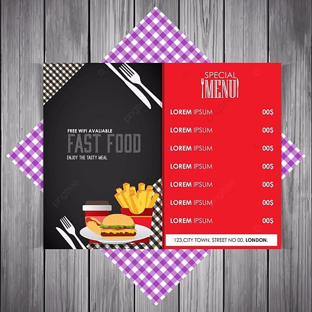 Restaurant Menu Design Template For Free Download On Pngtree