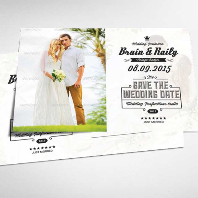 wedding save the date postcard template - Free Save The Date Postcard Templates
