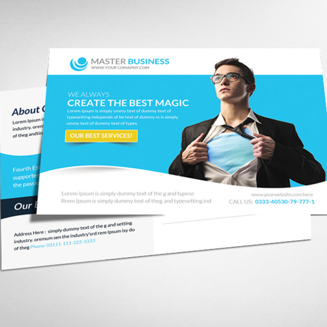 Corporate business postcard psd template template for free download corporate business postcard psd template template flashek Images