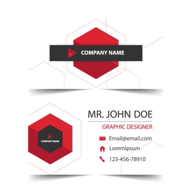 Business Card Name Card Template Horizontal Simple Clean Layout - Email business card templates