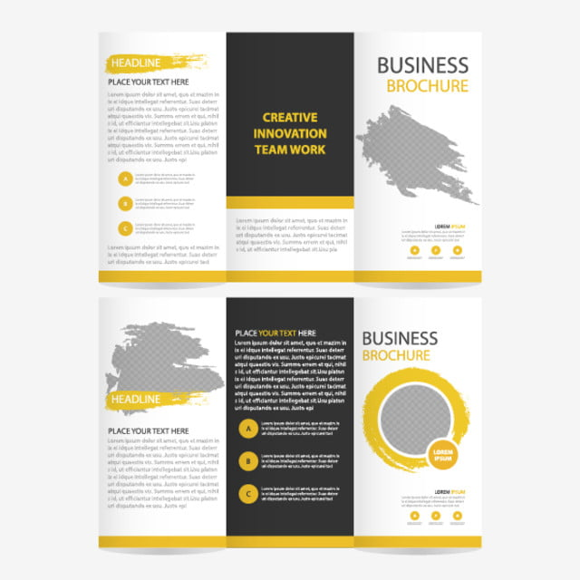 Blue Triangle Business Trifold Leaflet Brochure Flyer Report - Brochure flyer templates