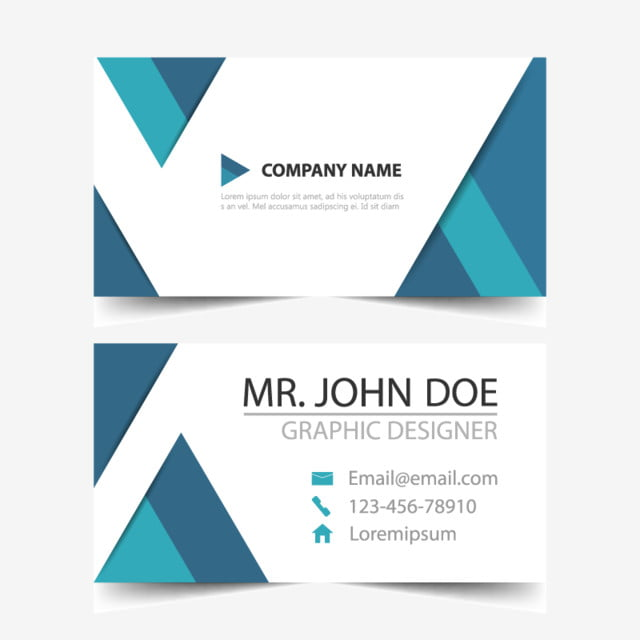 Blue Corporate Business Card Name Card Template Horizontal - Email business card templates
