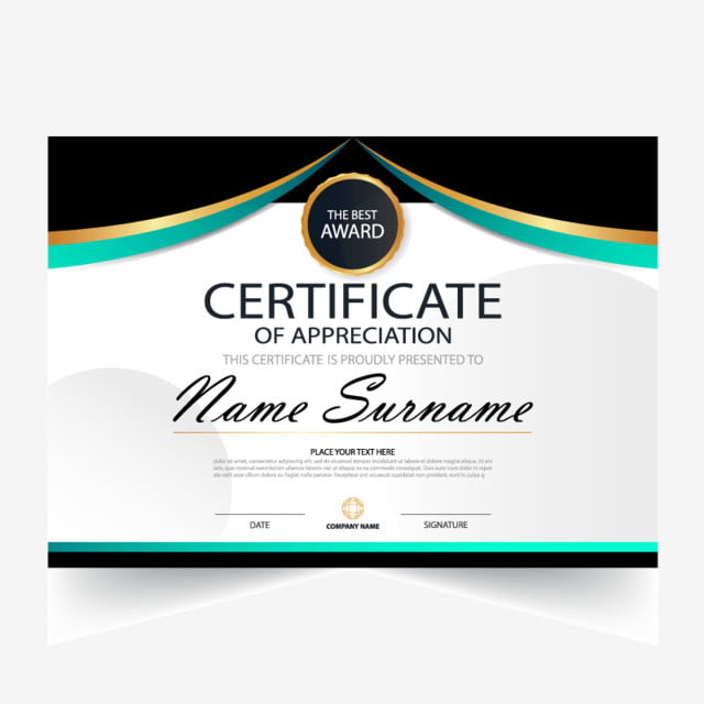 illustration vectorielle certificat avec  u00e9l u00e9gance