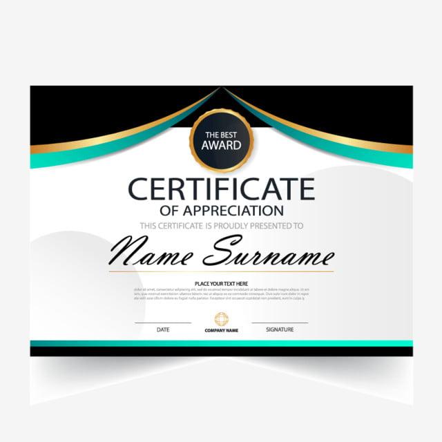 certificado template vector diploma premio realizaci u00f3n