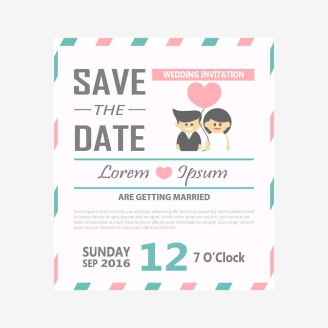 Wedding Invitation Card Template Vector Illustration,  Free Invitation Card Templates