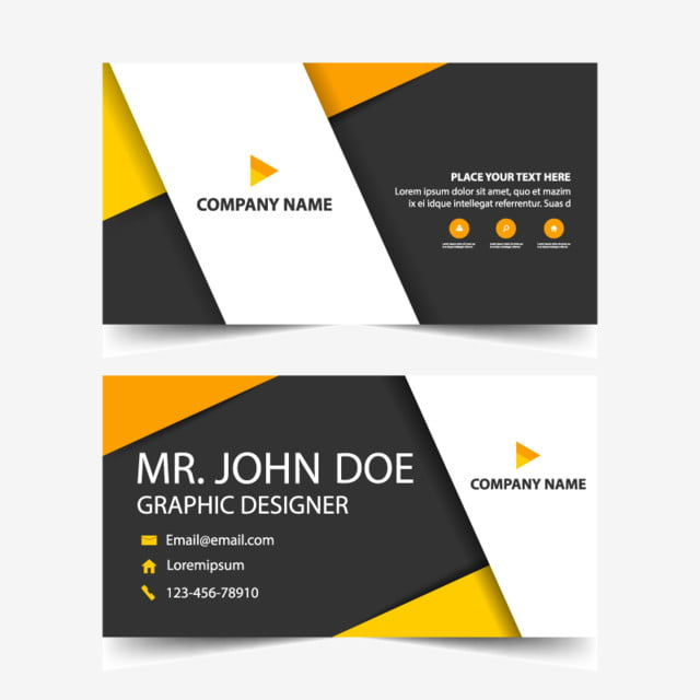 orange corporate business card header template template