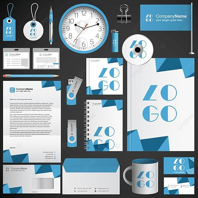 business corporate identity template free download on pngtree, Powerpoint templates
