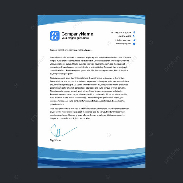 Business Letterhead Template Free Download On Pngtree