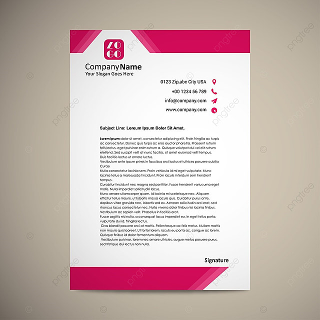 Business Letterhead  Company Letterhead Samples Free Download