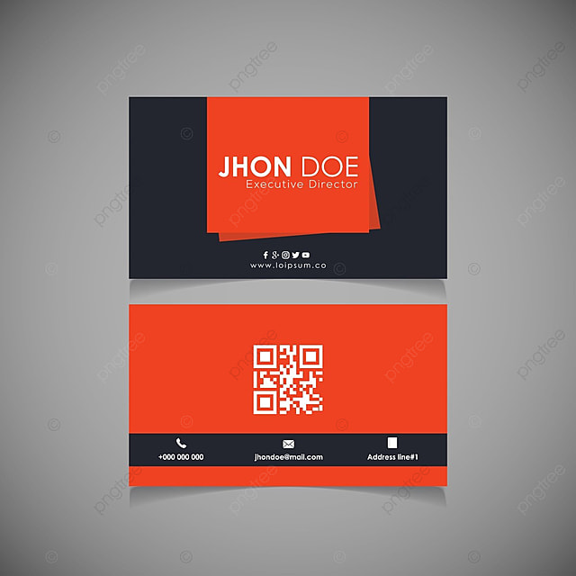 Dark Orange Business Cards Template For Free Download On Pngtree - Templates for business cards free download