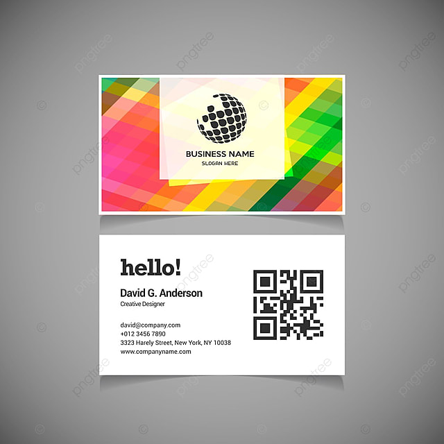 Rainbow business cards template for free download on pngtree rainbow business cards template accmission