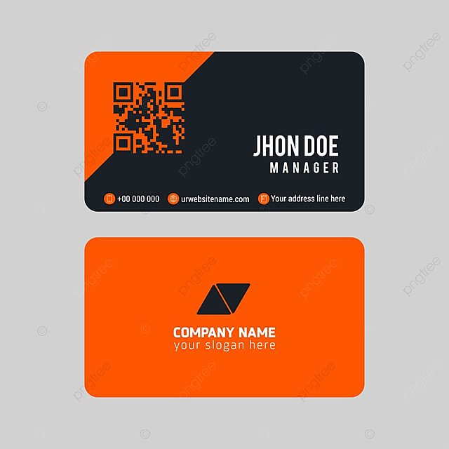 Dark orange business cards template for free download on pngtree dark orange business cards template reheart Image collections