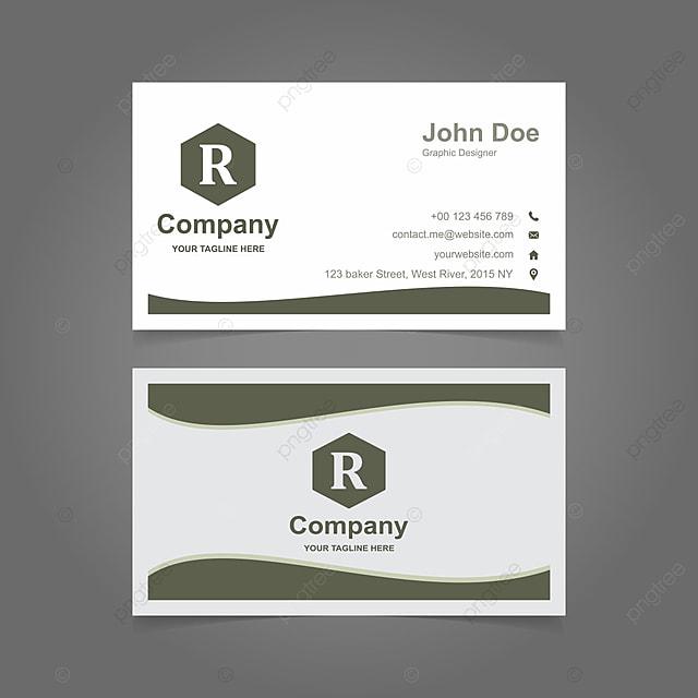 Off White Stylish Business Card