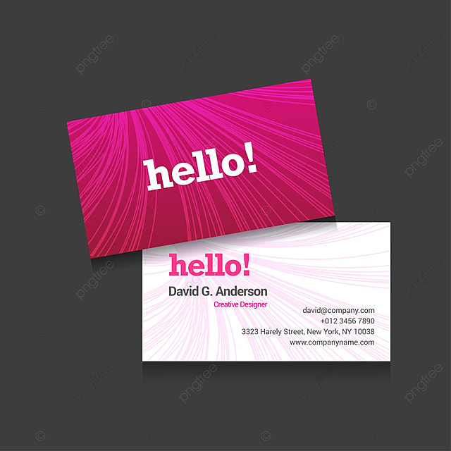 Pink and white stylish business card template for free download on pink and white stylish business card template cheaphphosting Gallery