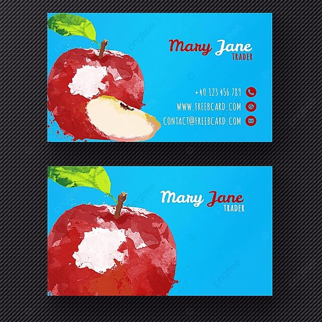 Watercolor apple business card template for free download on pngtree watercolor apple business card template reheart Images