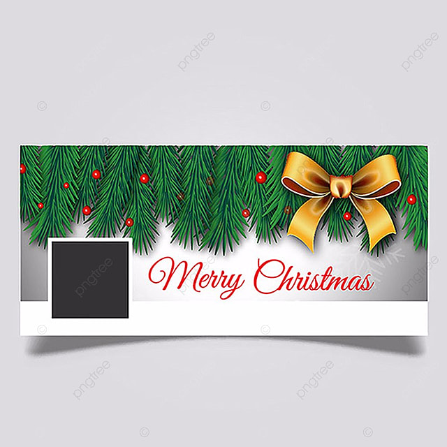 merry christmas facebook cover page template for free download on