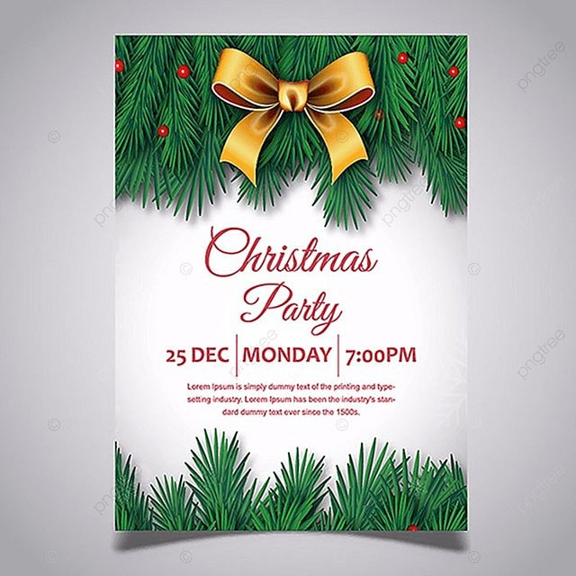 Merry Christmas Vector Party Poster