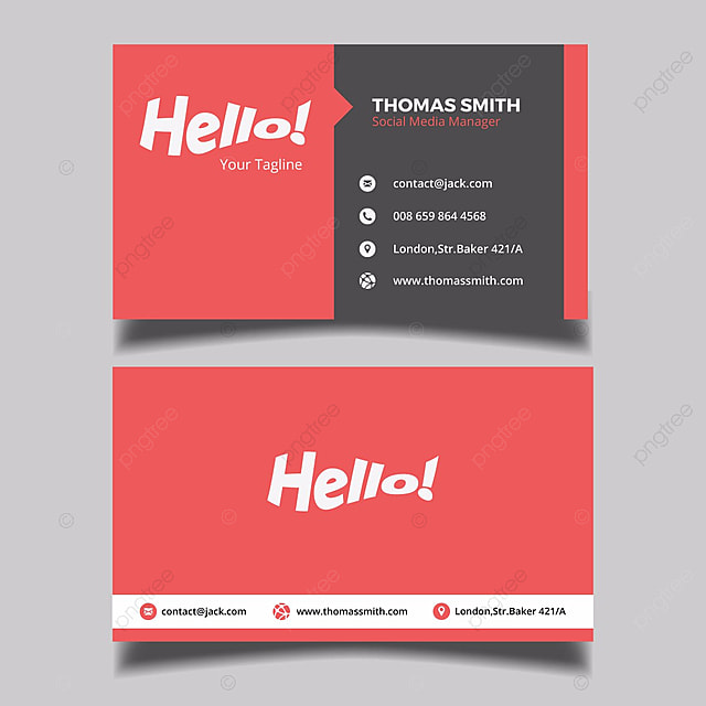 Minimal red business card template for free download on pngtree minimal red business card template wajeb Images