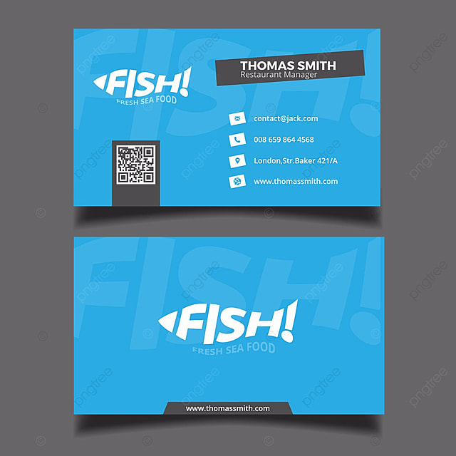 Blue fish restaurant business card template for free download on pngtree blue fish restaurant business card template colourmoves