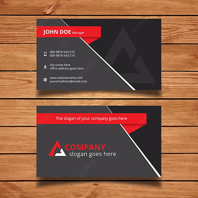 Modern black and red business card template for free download on modern black and red business card template colourmoves