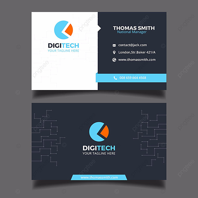 digital business card tempalte template - Free Digital Business Card