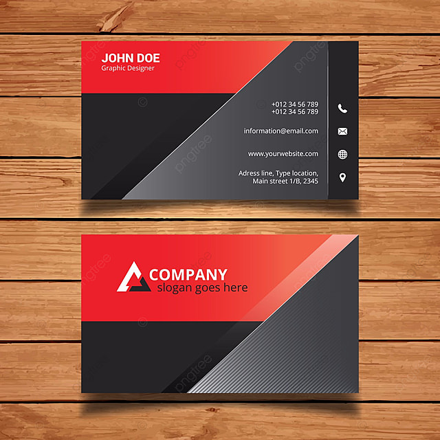 Black And Red Name Card Template For Free Download On Pngtree - Name card template