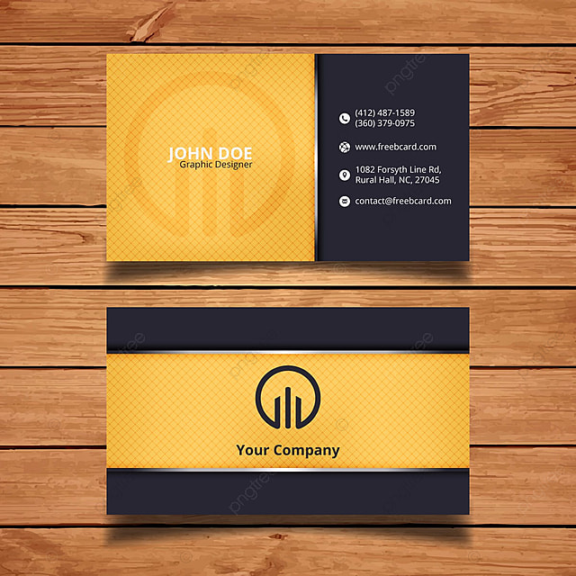 Yellow Minimal Name Card Template For Free Download On Pngtree