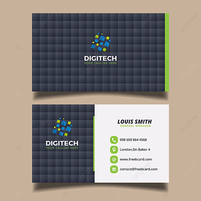 digital business card template template - Free Digital Business Card
