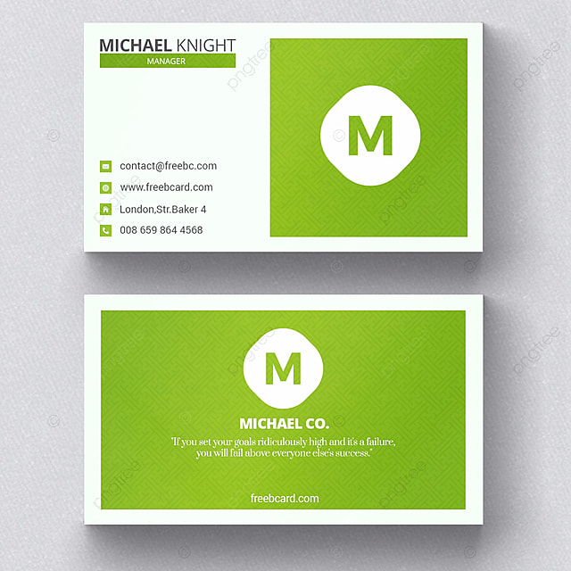 Simple green business card template for free download on pngtree simple green business card template friedricerecipe Images