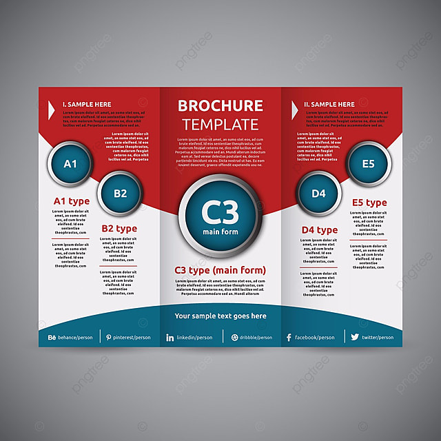 Corporate Trifold Template Template Free Download On Pngtree - Template brochure free download