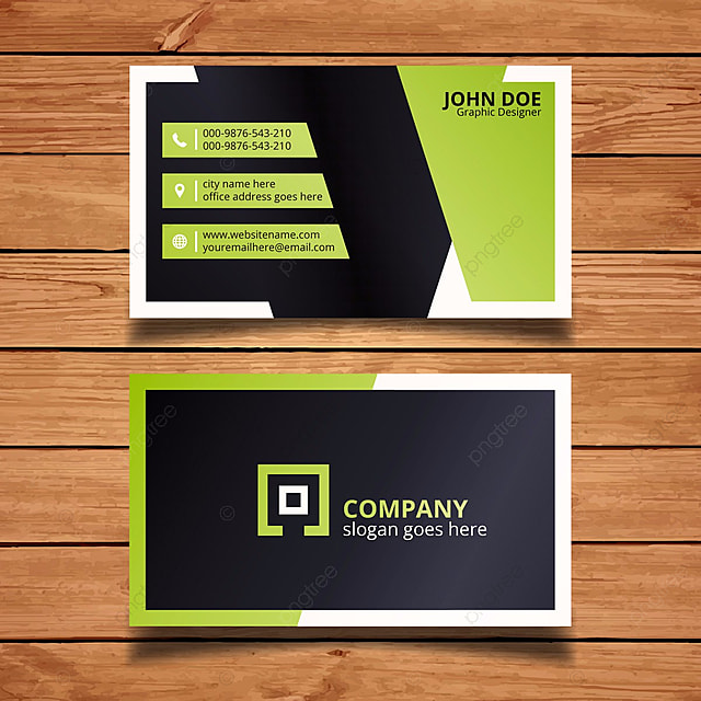 Green And Black Business Card Template