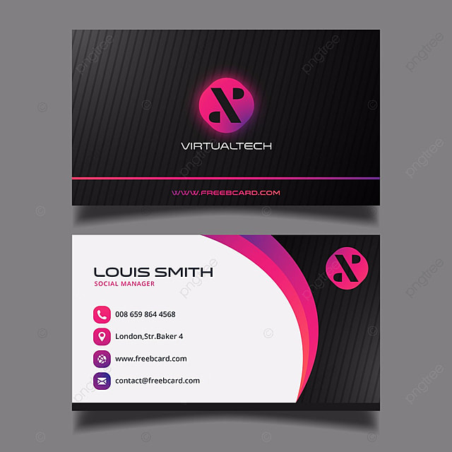 Black and purple business card template for free download on pngtree black and purple business card template colourmoves Image collections