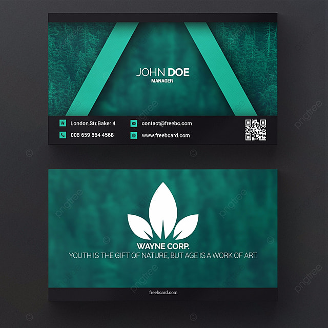 Green nature business card template for free download on pngtree green nature business card template reheart Images