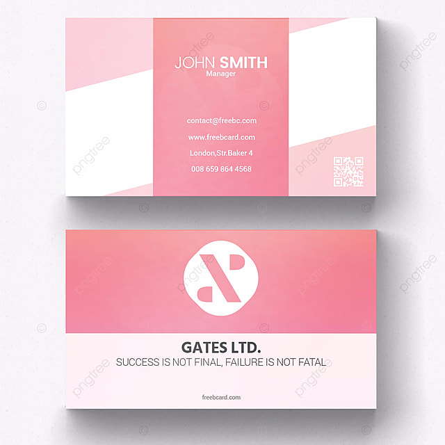 Simple pink business card template for free download on pngtree simple pink business card template colourmoves