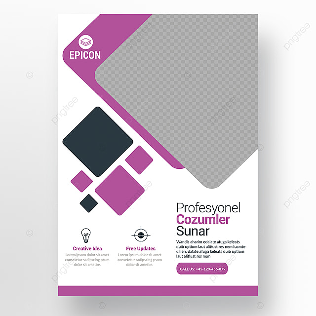company flyer template for free download on pngtree
