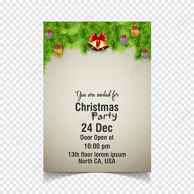 Christmas party invitation card vector template for free download on christmas party invitation card vector template stopboris Images