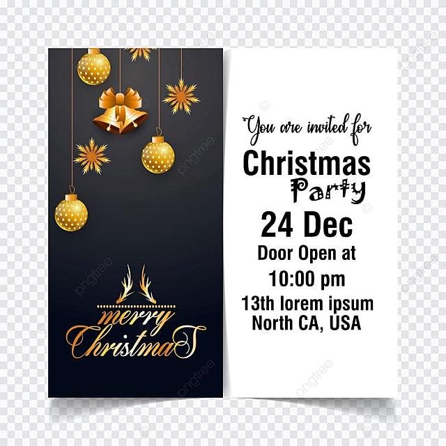 Navidad Tarjeta De Invitación Con Blanco Y Negro Gratis