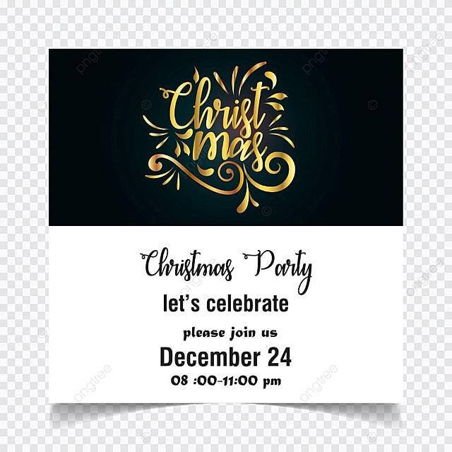 Fiesta De Navidad Tarjeta De Invitación En Blanco Y Negro