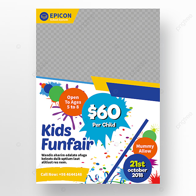 School Flyer Template Free Download On Pngtree - School brochure template free