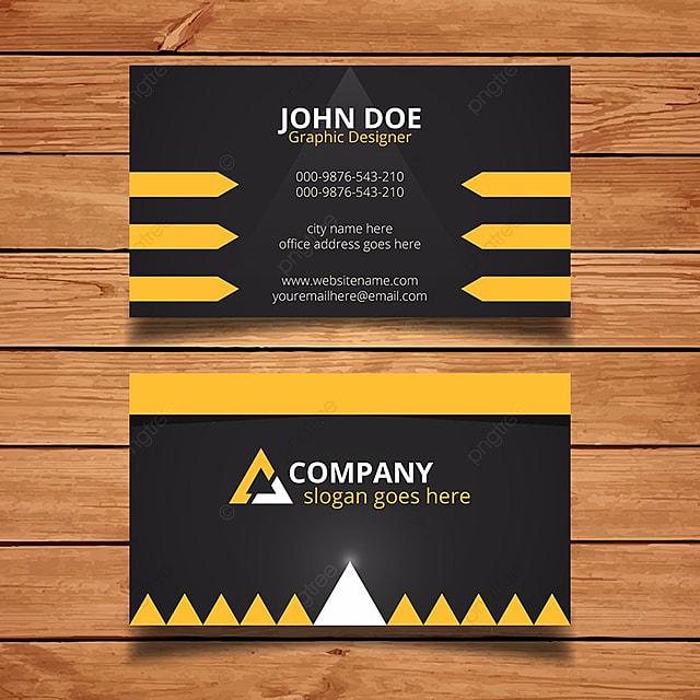 Black and yellow business card template for free download on pngtree black and yellow business card template fbccfo Image collections