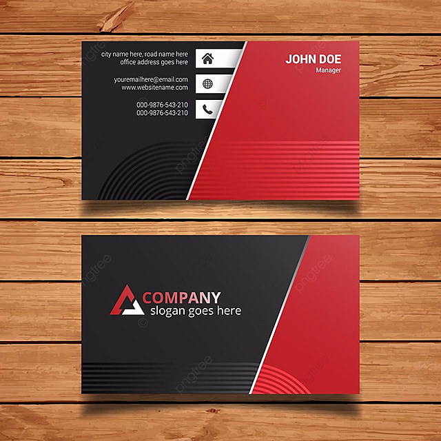 Minimal black and red business card template for free download on minimal black and red business card template fbccfo Choice Image
