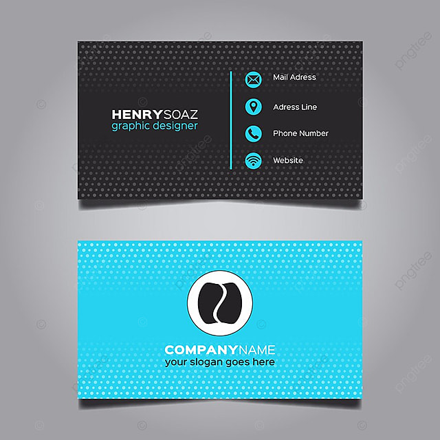 Blue and black business card template for free download on pngtree blue and black business card template cheaphphosting