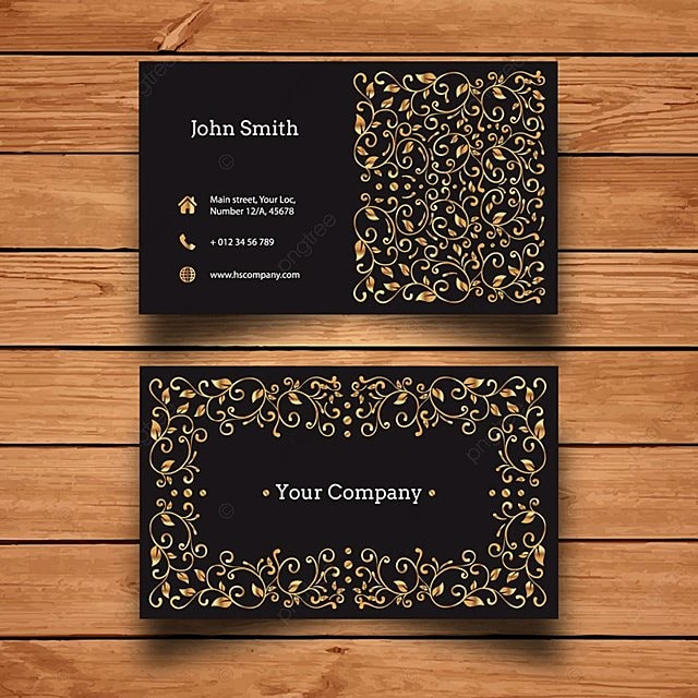 Dark and gold luxury business card template for free download on pngtree dark and gold luxury business card template reheart Images