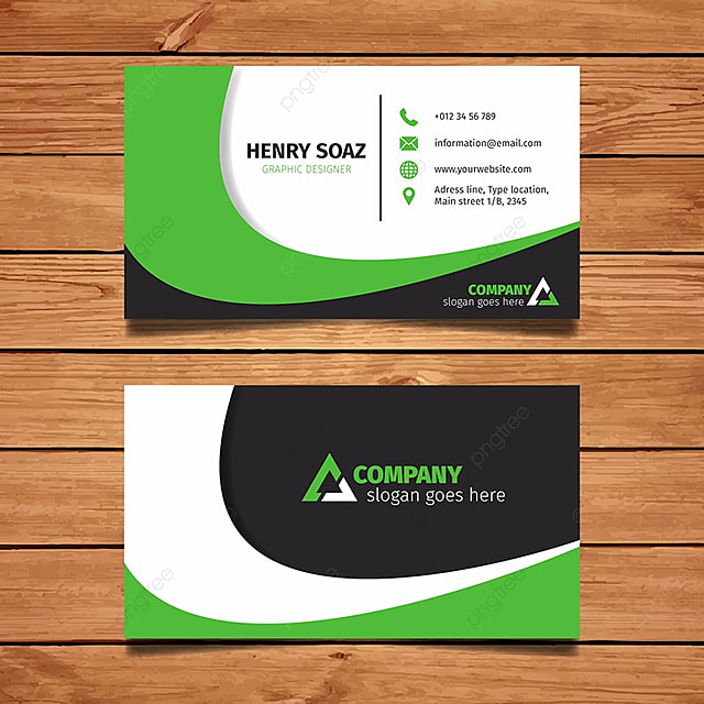 Simple green and black business card template for free download on simple green and black business card template cheaphphosting Image collections