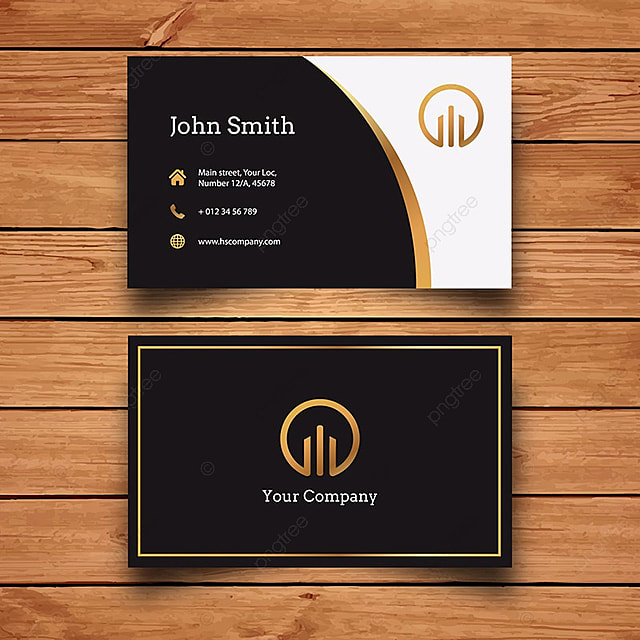 Black and gold business card template for free download on pngtree black and gold business card template cheaphphosting Image collections