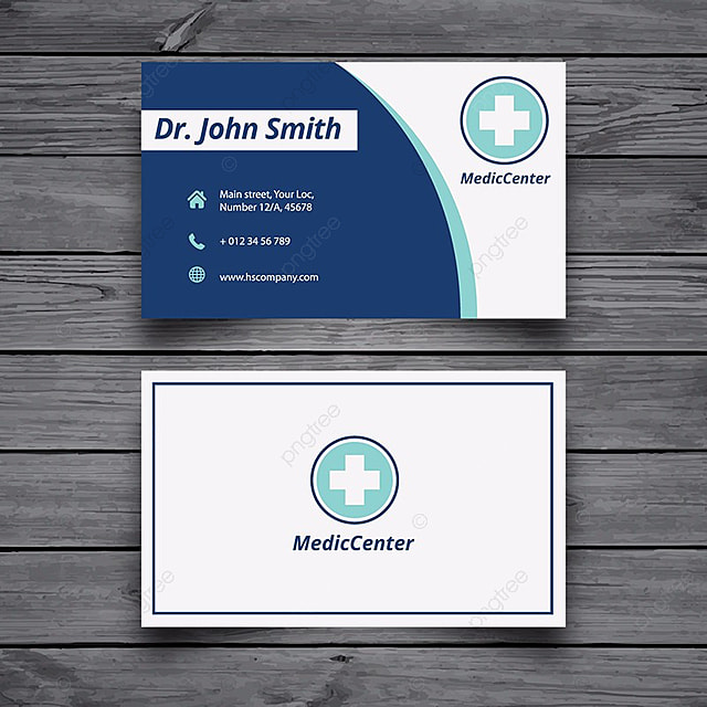 medical business card template template