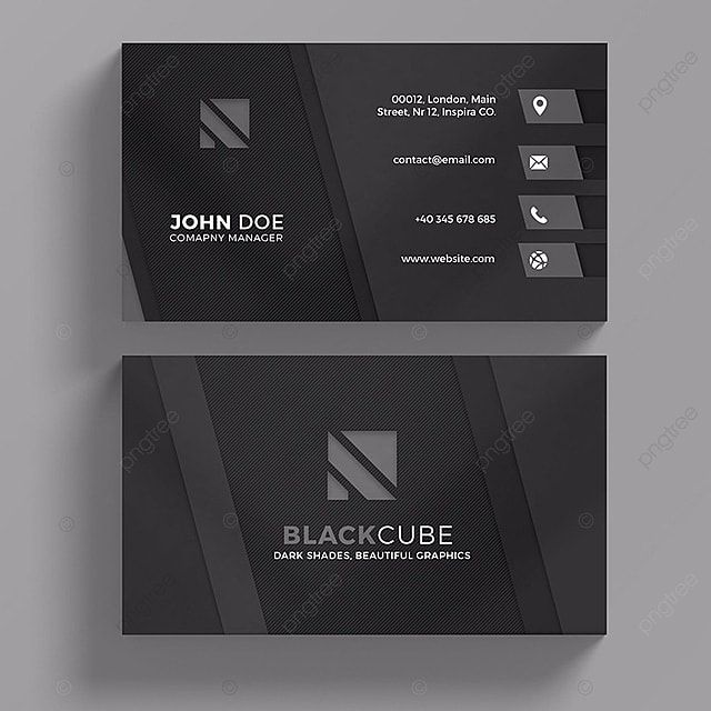 Dark business card template modelo para download gratuito no pngtree dark business card template modelo reheart