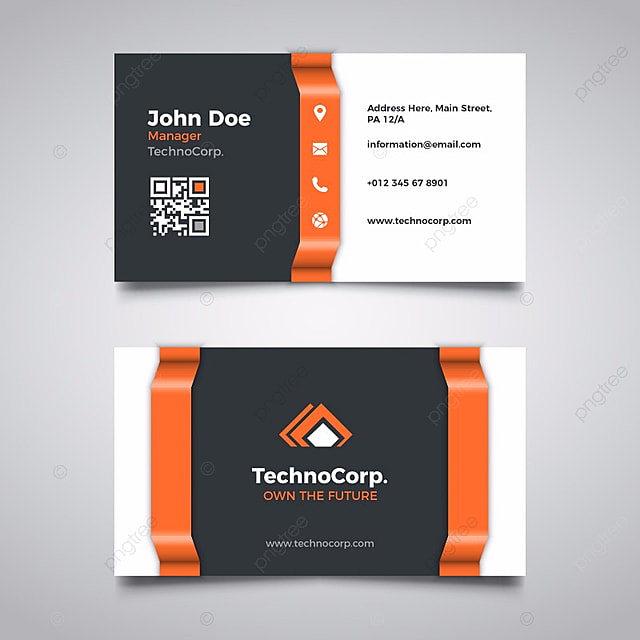 Orange and black business card template for free download on pngtree orange and black business card template reheart Images
